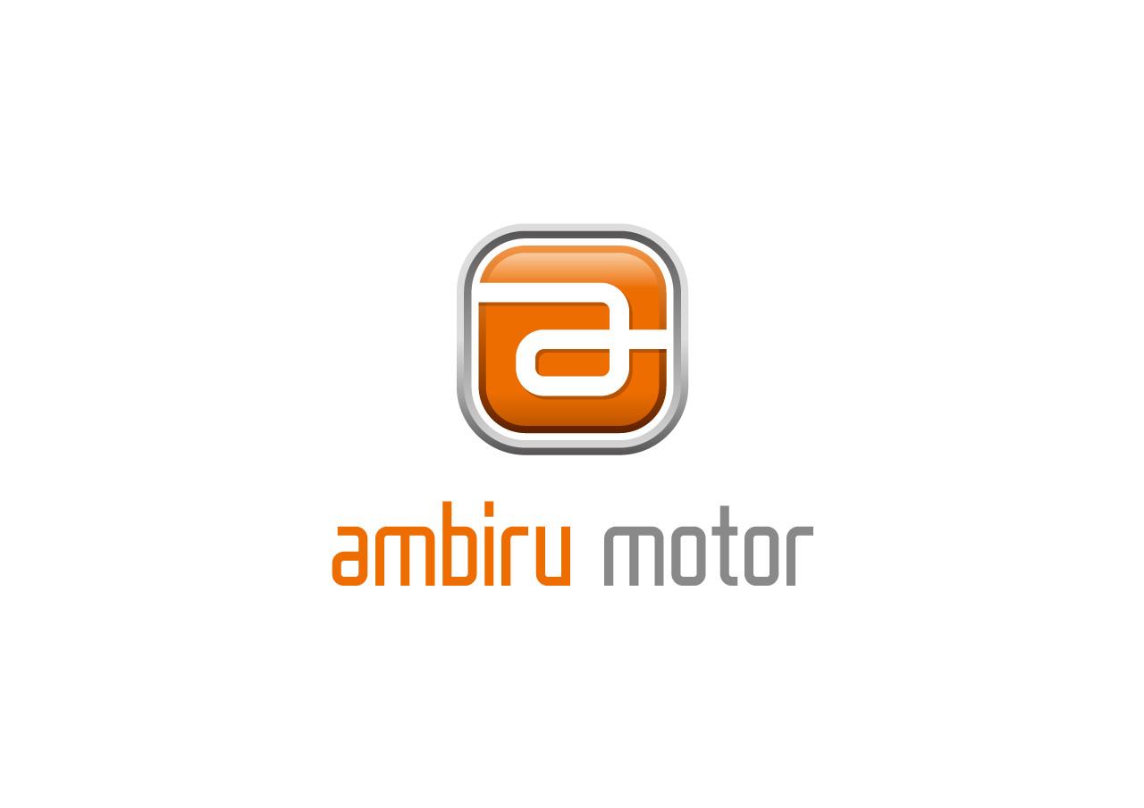 ambiru motor logo mark design