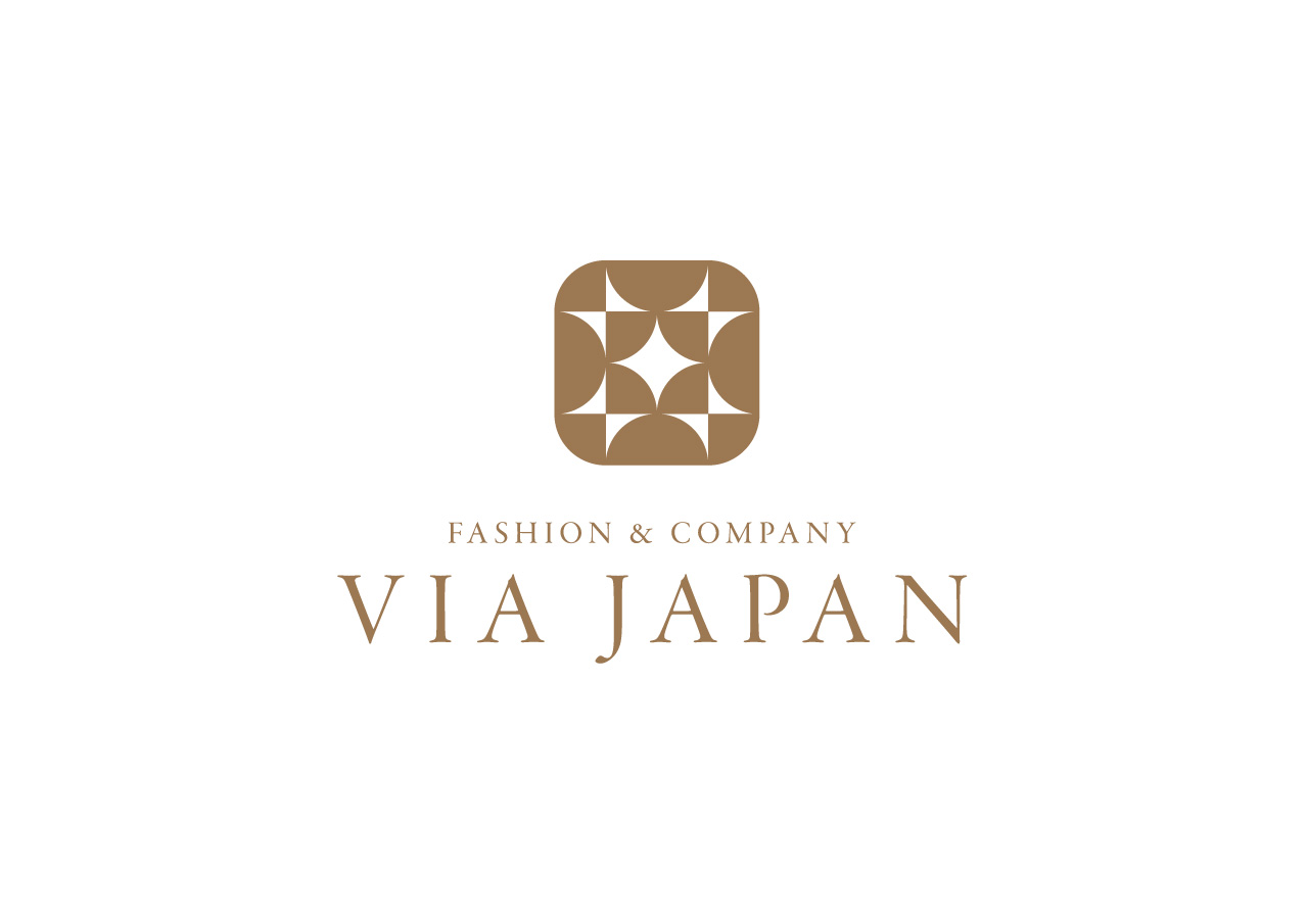 VIA JAPAN logo mark design