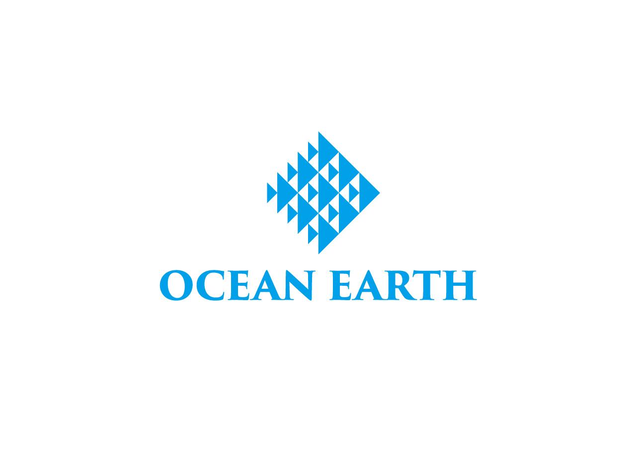 ocean earth logo mark design