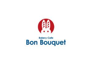 ベーカリーカフェ Bon Bouquet  ロゴマークデザイン