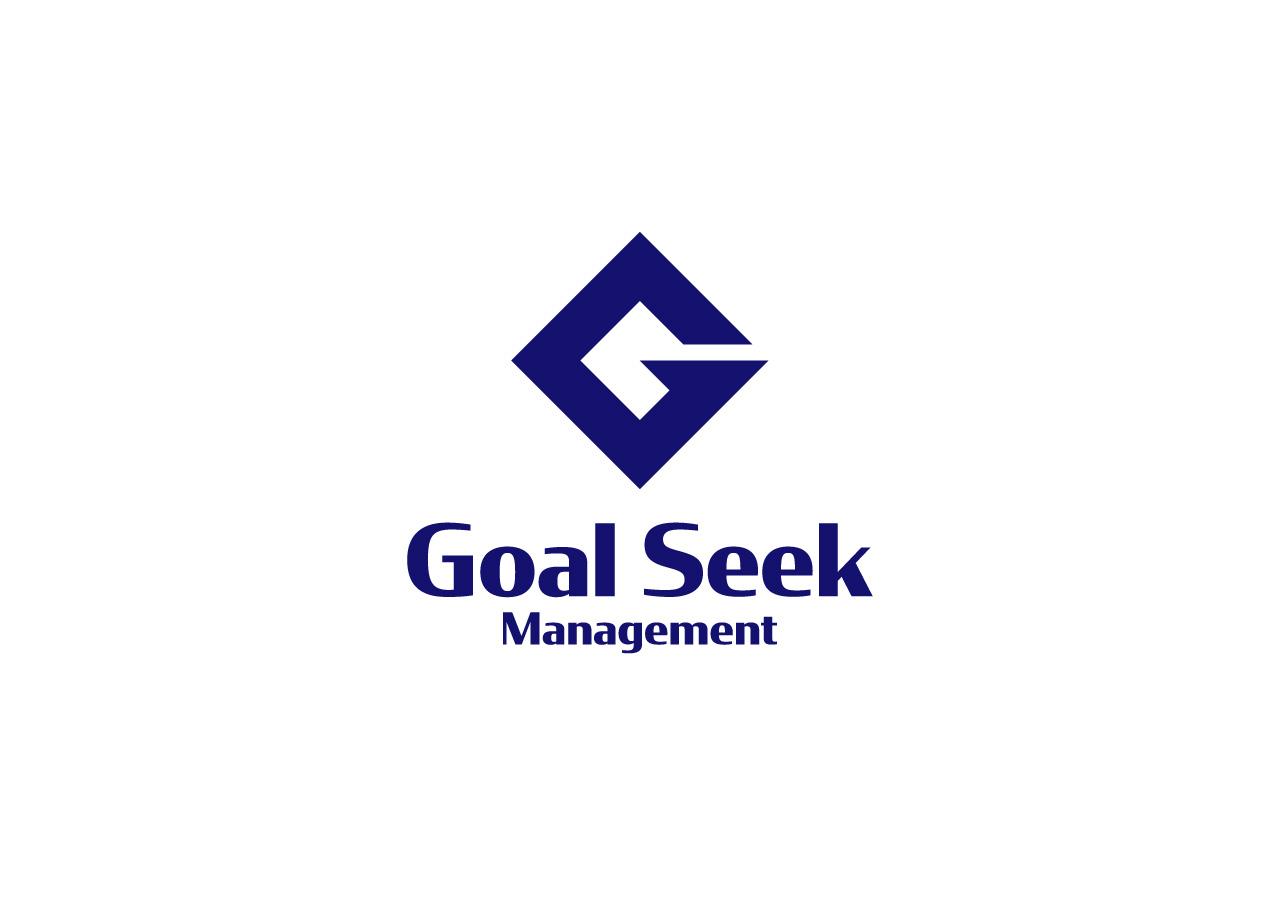 goal seek management logo mark design