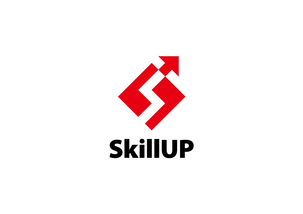 スキルアップ logo mark design